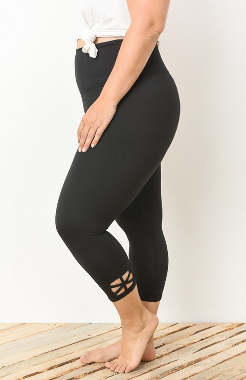 PLUS Black Cutout Legging
