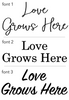 Wooden Growth Chart for Kids: Love Grows Here