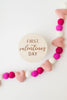 babys first valentines day milestone markers for new babies shower gift