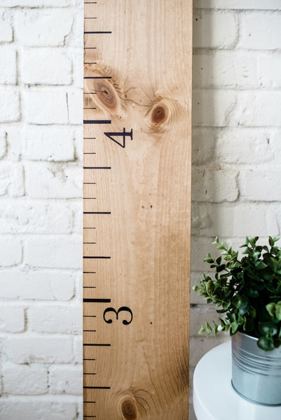 Golden Wheat: Wooden Growth Chart - Promotional