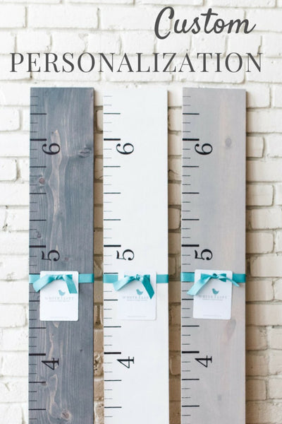 Personalized Wooden Growth Chart - Promotional