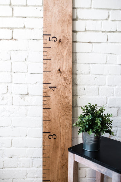 Summer Oak: Wooden Growth Chart - Promotional