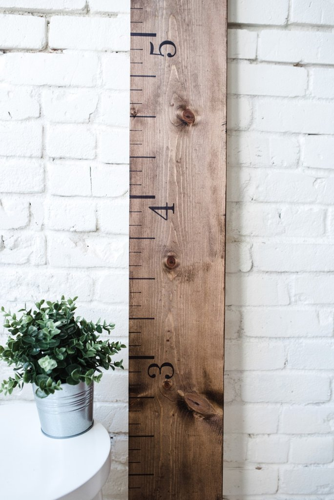 Personalized Wooden Growth Chart White Loft