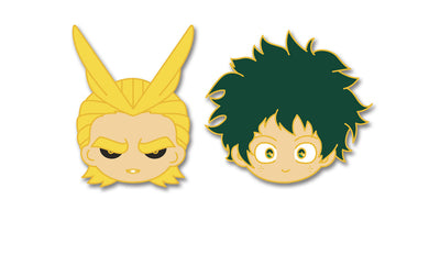 PINCHIBI SET#4 : AllMight & Midoriya