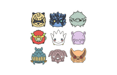 NARUTO - Chibi Tailed Beasts Set