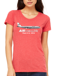 Love This Life AIRlovethislife Manifesto Women's Vintage Tee In Red
