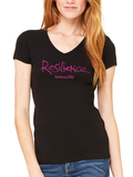 Love This Life Resilience Manifesto V-Neck Tee Shirt In Black