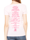 Love This Life Signature Manifesto Tissue V-Neck S/S In Light Pink