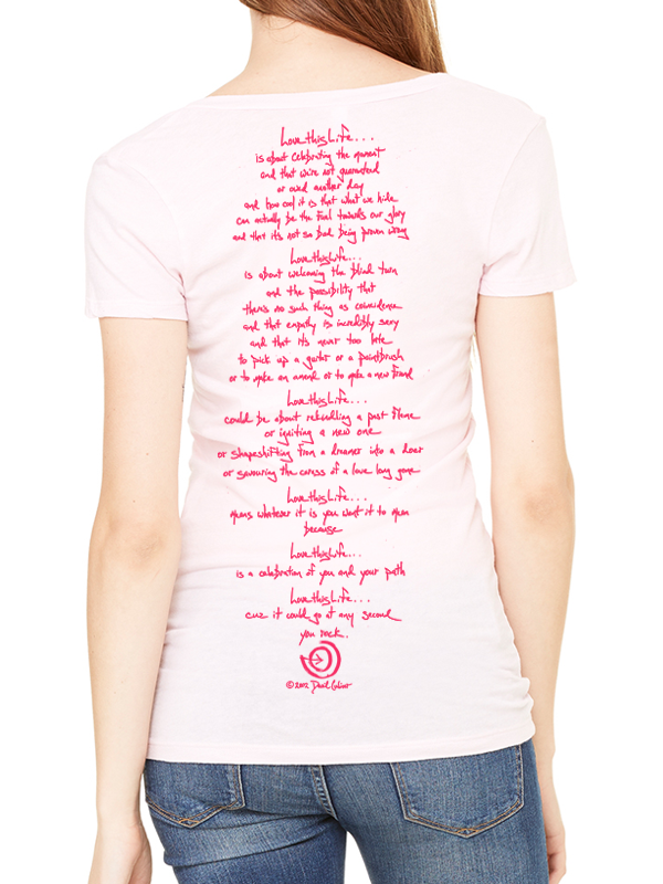 2a6641944c44 Love This Life The Alex Manifesto Peony Flower Tissue V-Neck S S In ...