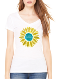 Love This Life Summer Daisy Manifesto Tissue V-Neck S/S In White - lovethislifeshop.net - #lovethislife