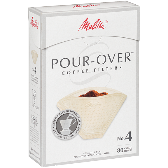 Melitta No. 4 Specialty Pour-Over Coffee Filters