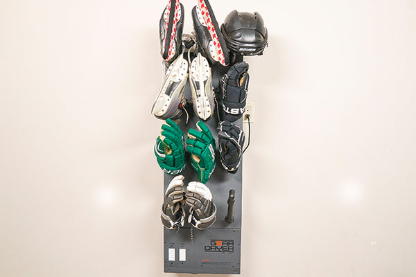 Wall Mount GearDryer drying Hockey Gear