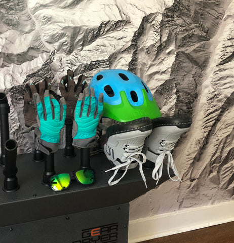 Prevent crusty bike gloves by drying them with the Freestanding 12 GearDryer