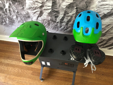 Dry a bike helmet or a full face helmet after a ride with the GearDryer