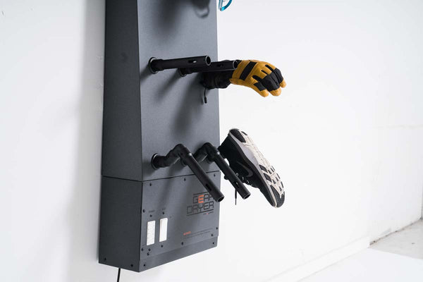 Wall Mount 12 Glove Dryer Setup