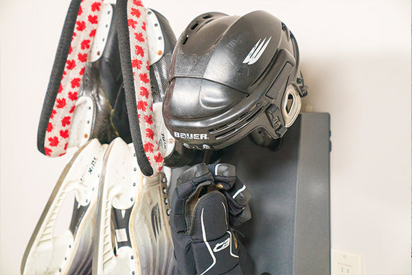 Wall Mount GearDryer Drying Hockey Skates and Hockey helmet