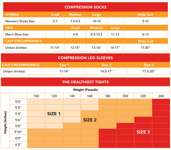 Compression Sock Sizing Guide