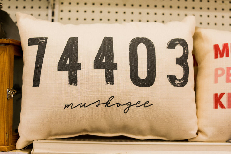 Muskogee Zip Code Pillow - 03