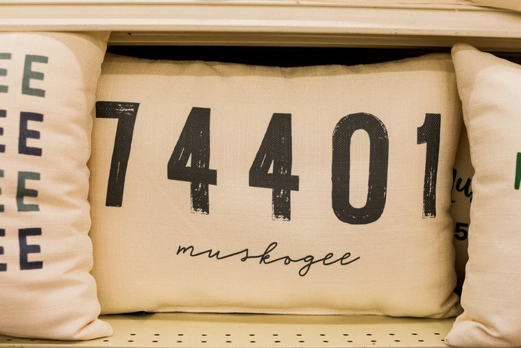 Muskogee Zip Code Pillow - 01