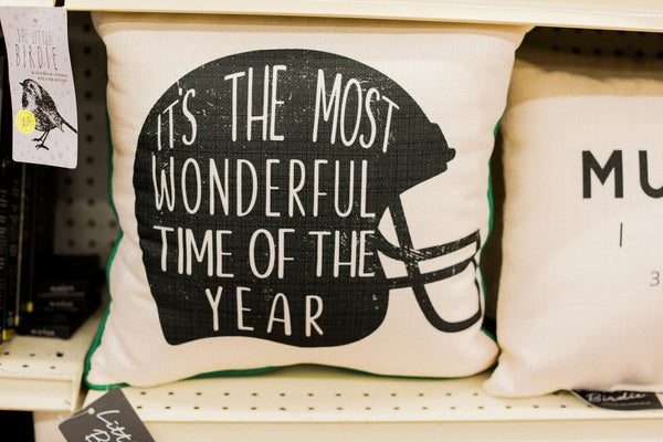 It's the Most Wonderful Time of the Year Football Pillow