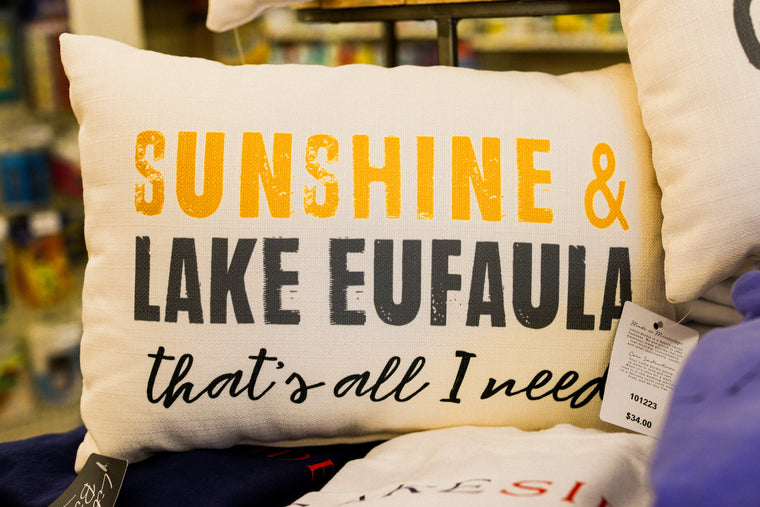 Lake Eufaula Pillow