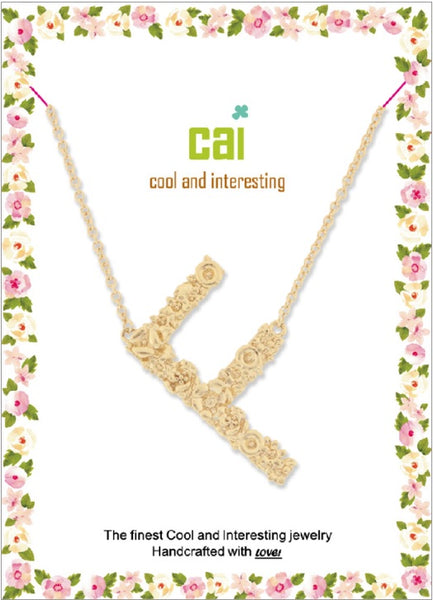 Gold Flower Initial Necklace - Pharm Favorites by Economy Pharmacy