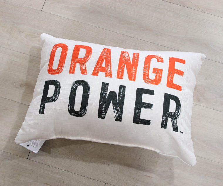 Orange Power Pillow
