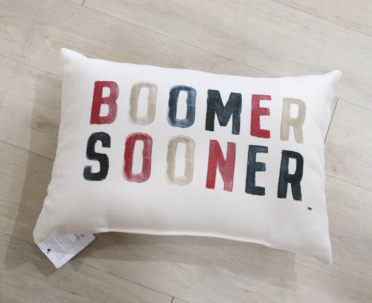 Boomer Sooner Pillow