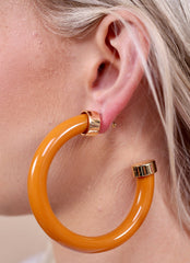 Tailgate Time Thick Acrylic Hoop Earring With Metal Cap - Pharm Favorites by Economy Pharmacy