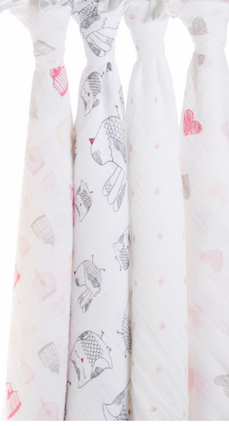 Lovebird 4 Pack Classic Swaddles by Aden and Anais - Pharm Favorites by Economy Pharmacy