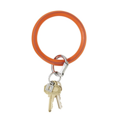 O-Keyring Vegan Leather - orange crush