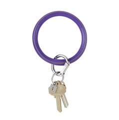 O-Keyring Vegan Leather - deep purple