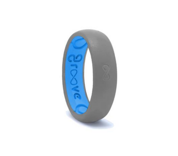 Thin Groove Silicone Rings - Deep Stone