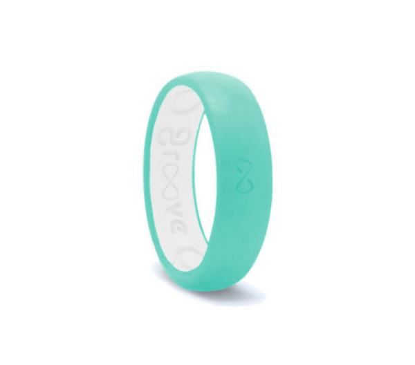 Thin Groove Silicone Rings - Seafoam