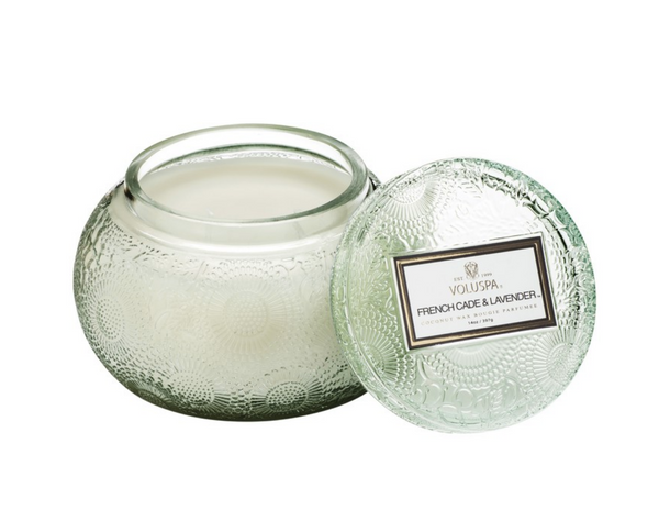 Chawan Bowl 2 Wick Embossed Glass Candle by Voluspa - Pharm Favorites by Economy Pharmacy