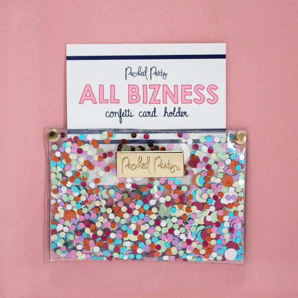 All Bizness Confetti Card Holder - Pharm Favorites by Economy Pharmacy