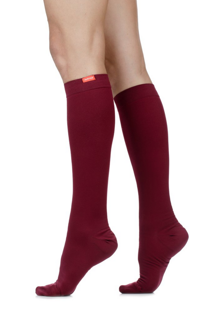 Women's Moisture-Wick Nylon Compression Socks