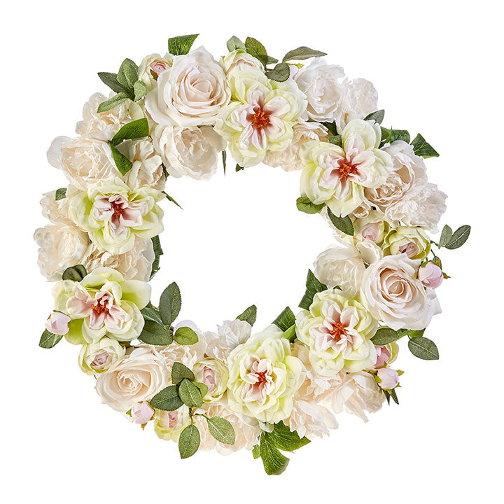 Light Mixed Floral Wreath