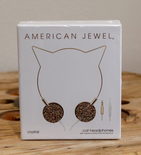 Jeweled Cat Ear Headphones - Pharm Favorites by Economy Pharmacy