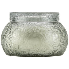 French Cade Embossed Glass Chawan Bowl W/Lid - Pharm Favorites by Economy Pharmacy