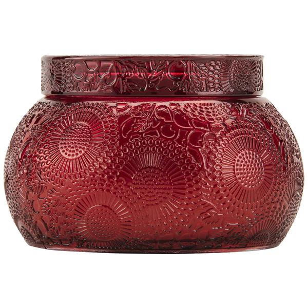 Goji Taracco Orange Embossed Glass Chawan Bowl w/Lid - Pharm Favorites by Economy Pharmacy