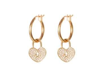 Heart Lock Earrings - Pharm Favorites by Economy Pharmacy