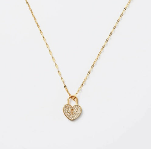 Heart Lock Necklace - Pharm Favorites by Economy Pharmacy