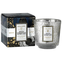 White Currants & Alpine Lace Boxed Mini Pedestal Glass Candle - Pharm Favorites by Economy Pharmacy