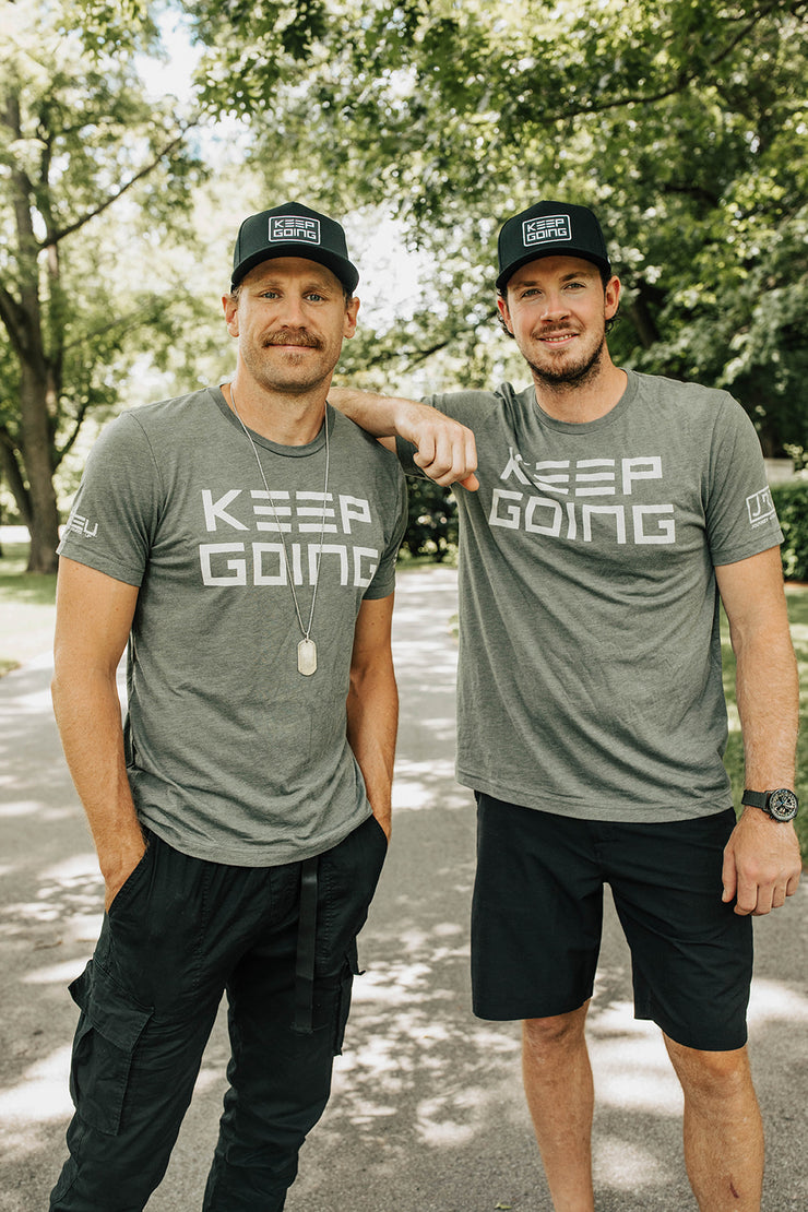 KEEP GOING Military Triblend Shirt
