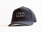 JRT Black Denim Black Suede Black Leather Strap Hat