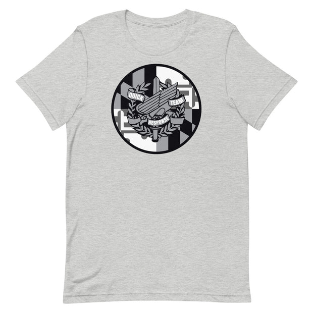 Anne Arundel Black and Grey Shield Logo Tee