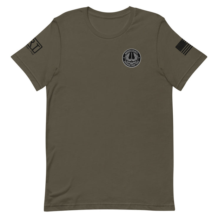BERGEN COUNTY SWAT BLACK USA JRT TEE