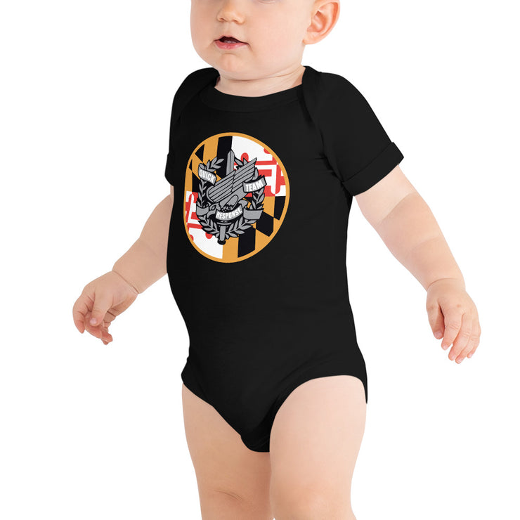 ANNE ARUNDEL CHEST AND BACK MARYLAND LOGO TODDLER JUMPSUIT