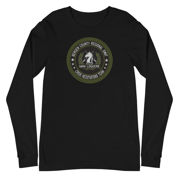 BERGEN COUNTY NEGOTIATIONS TEAM GREEN LOGO LONG SLEEVE